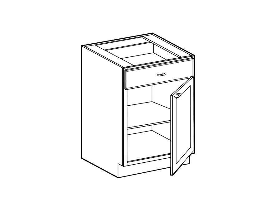 1 door 1 drawer base