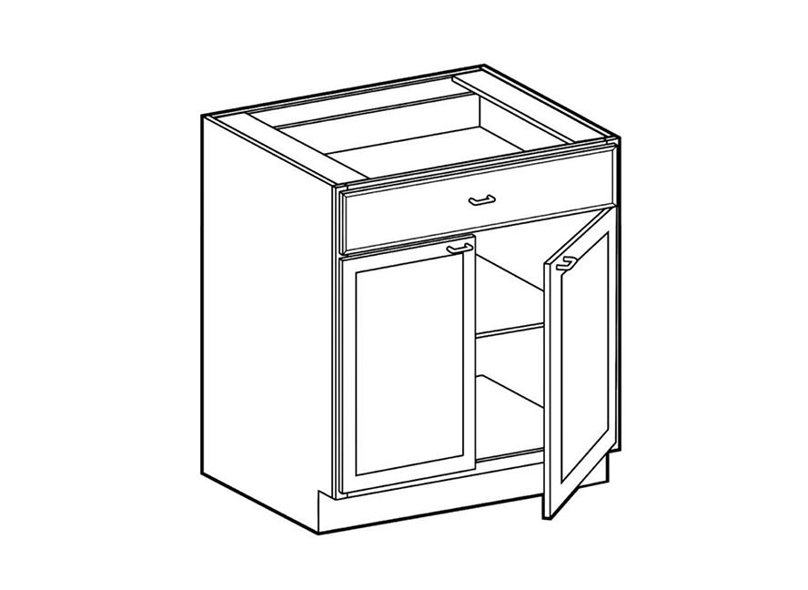 2 door 1 drawer base