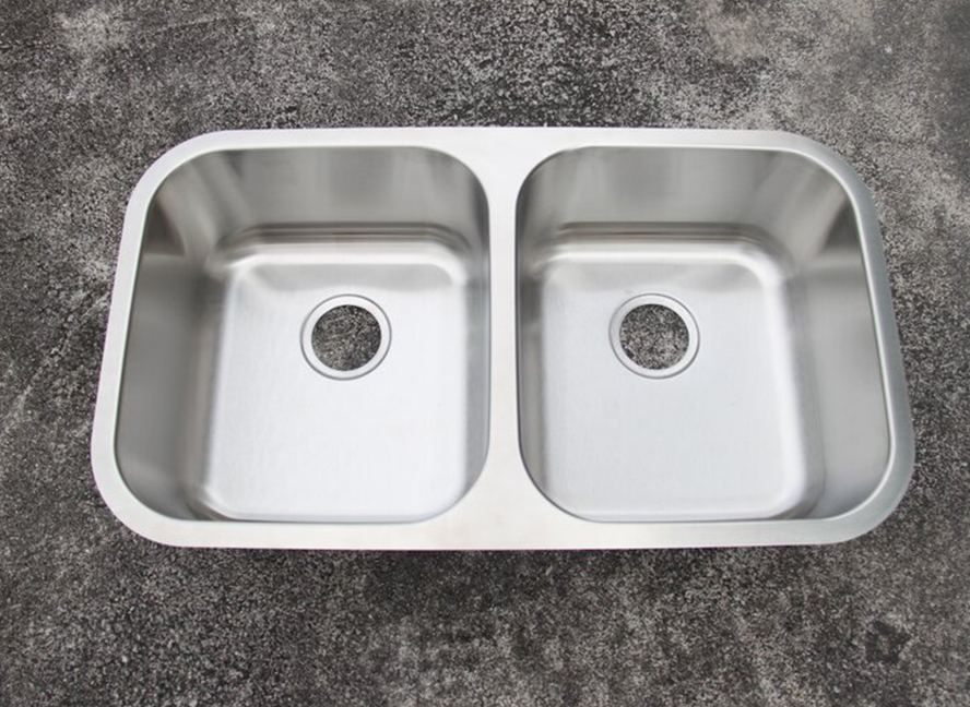 Stainless+Steel+32+L+x+18+Double+Basin+Undermount+Kitchen+Sink